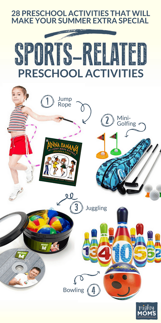 Sports Summer Preschool Activities - MightyMoms.club