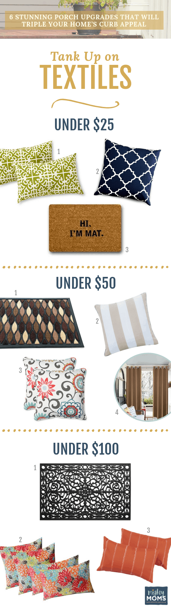 Increase Your Curb Appeal with Textiles - MightyMoms.club