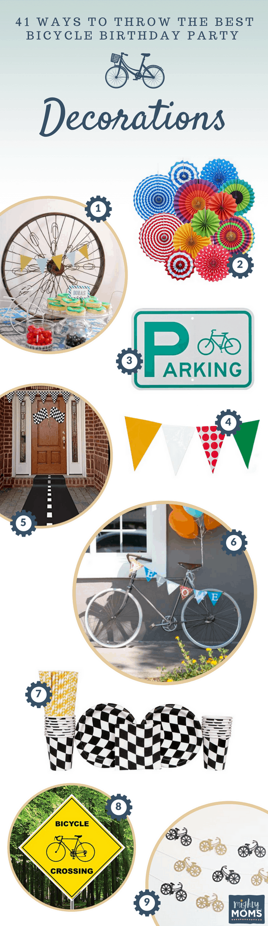 Bicycle Birthday Party Decor Ideas - MightyMoms.club