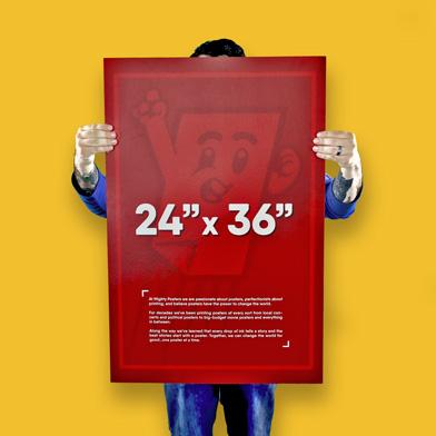 24 x 36 poster printing 5 flat