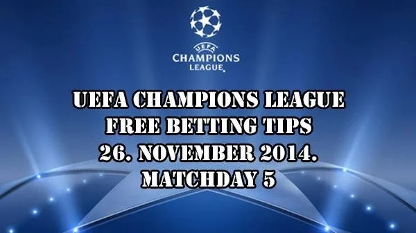 Champions League Prediction and Betting Tips 26.11.2014