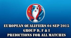 EURO 2016 Qualifiers Predictions and Betting Tips 04.09.2015.
