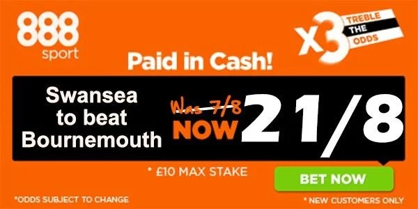 Swansea vs Bournemouth Bet 21.11.2015.