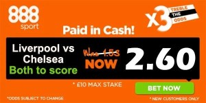 Liverpool vs Chelsea Bet and Prediction
