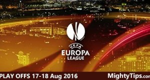 Europa League Play Offs 17 - 18 August 2016 Predictions