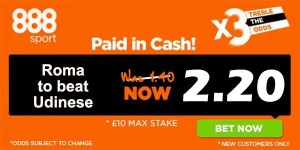 Roma vs Udinese Prediction and Bet