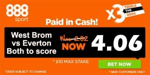 West Brom vs Everton Prediction and Bet