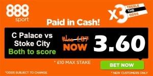 Crystal Palace vs Stoke Prediction and Bet