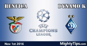 Benfica vs Dynamo Kiev Prediction and Betting Tips