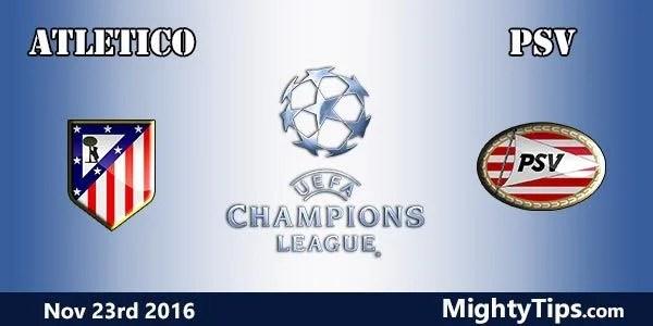 Atletico Madrid vs PSV Odds: