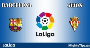 Barcelona vs Gijon Prediction and Betting Tips