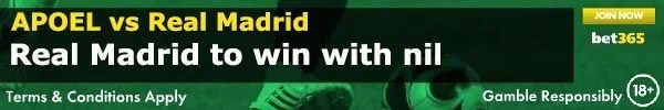 APOEL vs Real Madrid Prediction and Bet