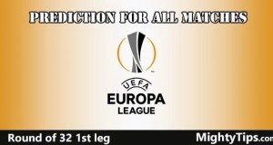 Europa League Predictions Round of 32