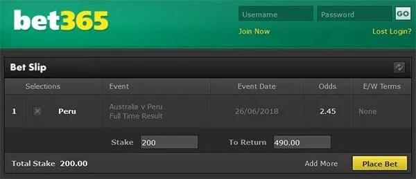 Australia vs Peru Prediction