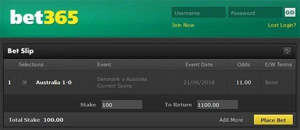 Denmark vs Australia Prediction and Bet