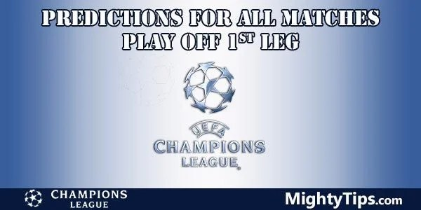Champions League Prediction Play Off