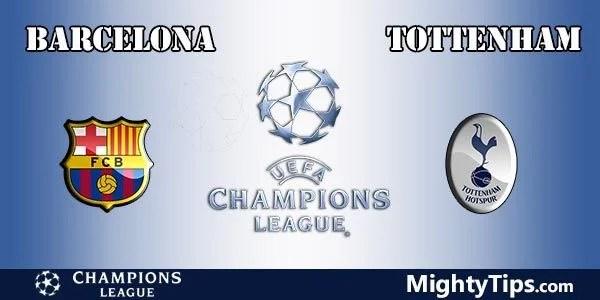 Barcelona vs Tottenham Prediction, Preview and Betting Tips