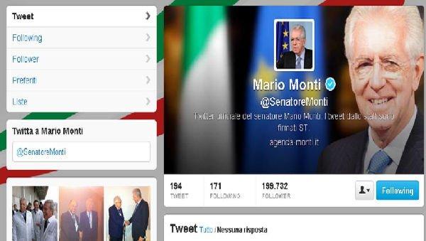 Mario Monti su Twitter