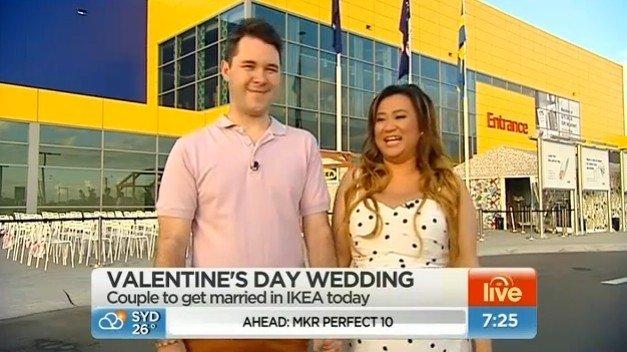 Matrimonio all'Ikea di Chad e Lynne