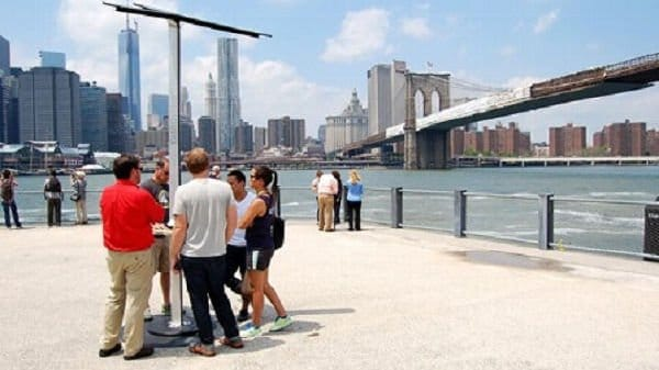 Caricabatterie solare a New York
