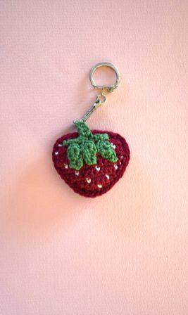 Porte-clés Fraise - Strawberry Keychain - keyring 1