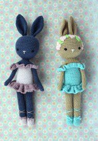 Poupée Lapin Ballerine - Kikalite - Ballerine bleu - Amigurumi lapin - Ballerina Bunny Charlotte 5