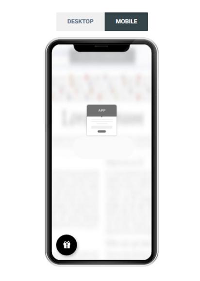 Vue sur Mobile - cliquez sur le cadeau