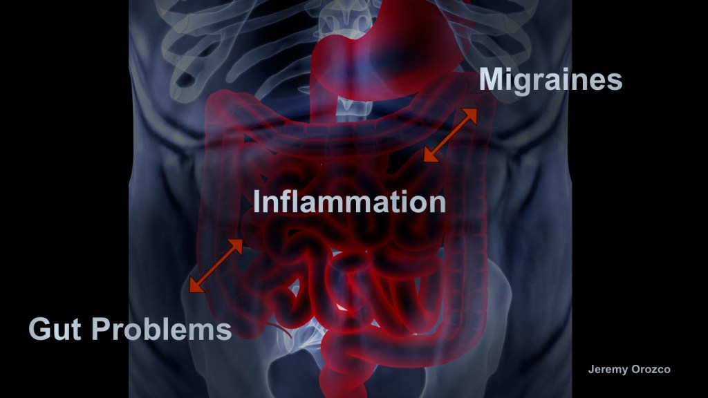 Gut inflammation migraine