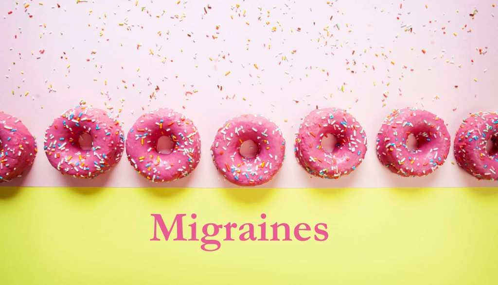 Migraines, inflammatory foods, article. Doughnuts.
