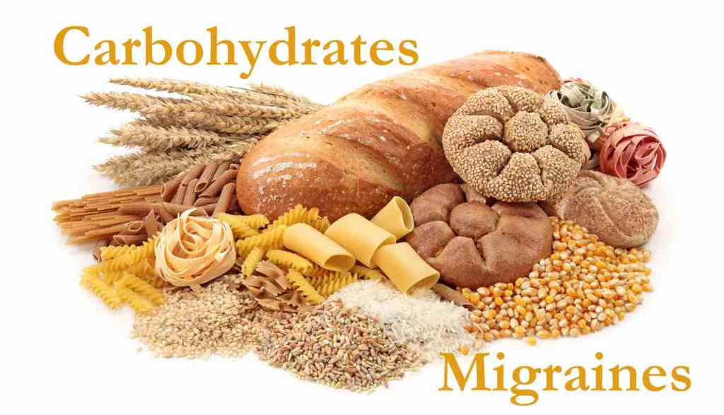 Foods high in carbohydrate, migraine trigger.