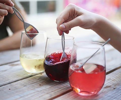 Wine with TheWand filters make mom nights out possible for moms with migraine.