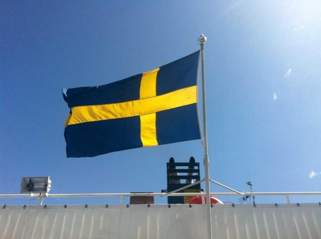 Swedish Flag Stockholm Archipelago