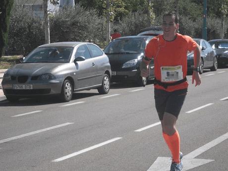 Últimos km en la Maraton de Zaragoza