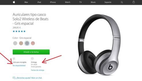 Auriculares tipo casco Solo2 Wireless de Beats - Oro - Apple (ES)-min