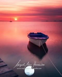 Rojos al amanecer. Los Narejos Mar Menor Murcia