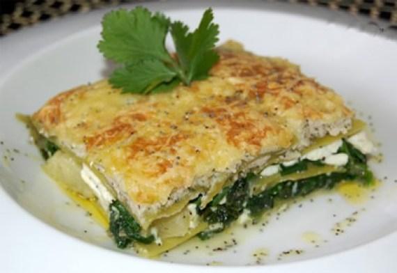 lasagna de espinacas