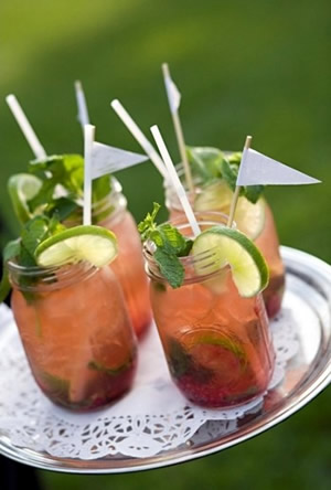 Bebidas en Mason jars
