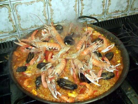 Paella di frutti di mare
