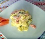 Pasta con salmón ahumado al vodka