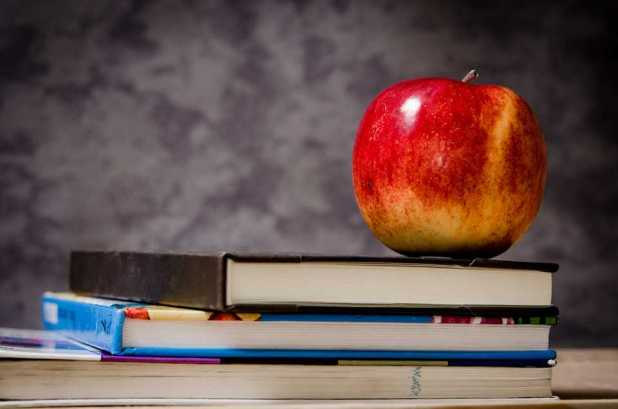 Artificial Intelligence: apple on books