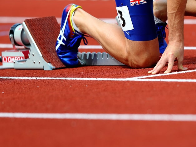 amsterdam-netherlands---july-07--rhys-williams-of-great-britain-in-the-starting-blocks-ahead-of-hi