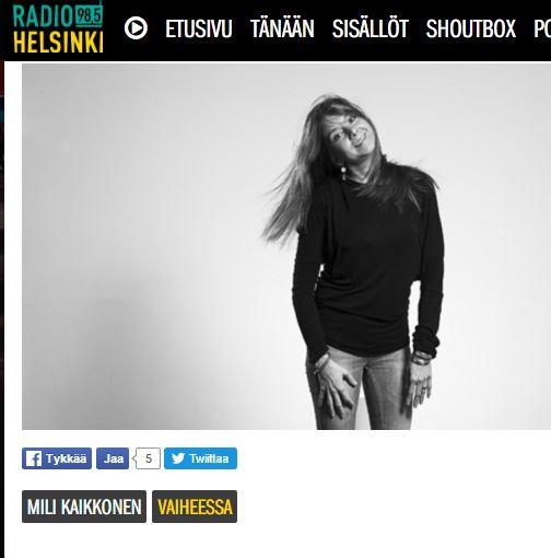 Radio Helsingin haastattelu 2016