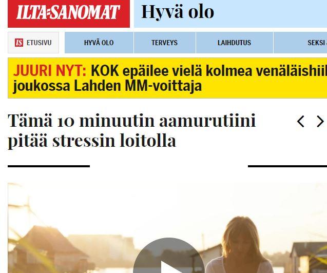 Ilta-Sanomien haastattelu 2017