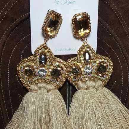 Crystal Crown Earrings