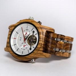 Luxury Wooden Watch Zebrawood Zebrano