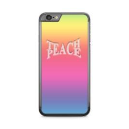 Rainbow design with centered teach peace logo in center