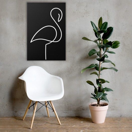 Birdy Canvas (Black)