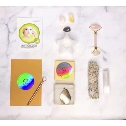 Full Moon Power Kit with Selenite Tea Candle Holder - SOUL IMPACTFUL