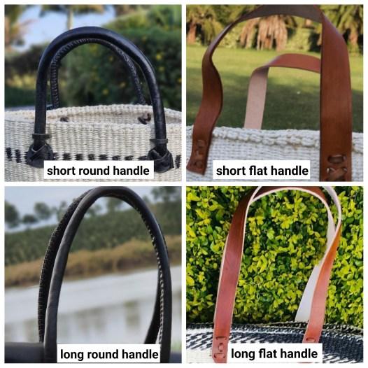 Basket leather handles