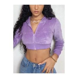 purple jacket. crop top jacket.
